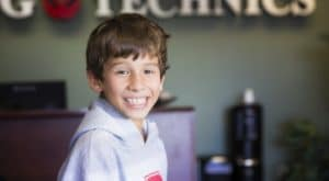 learning technics student smiling at learning center